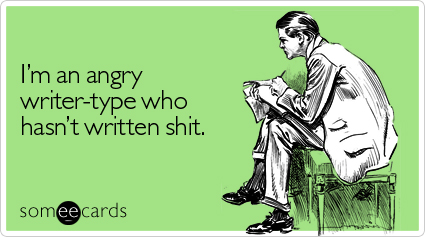 angry writer type